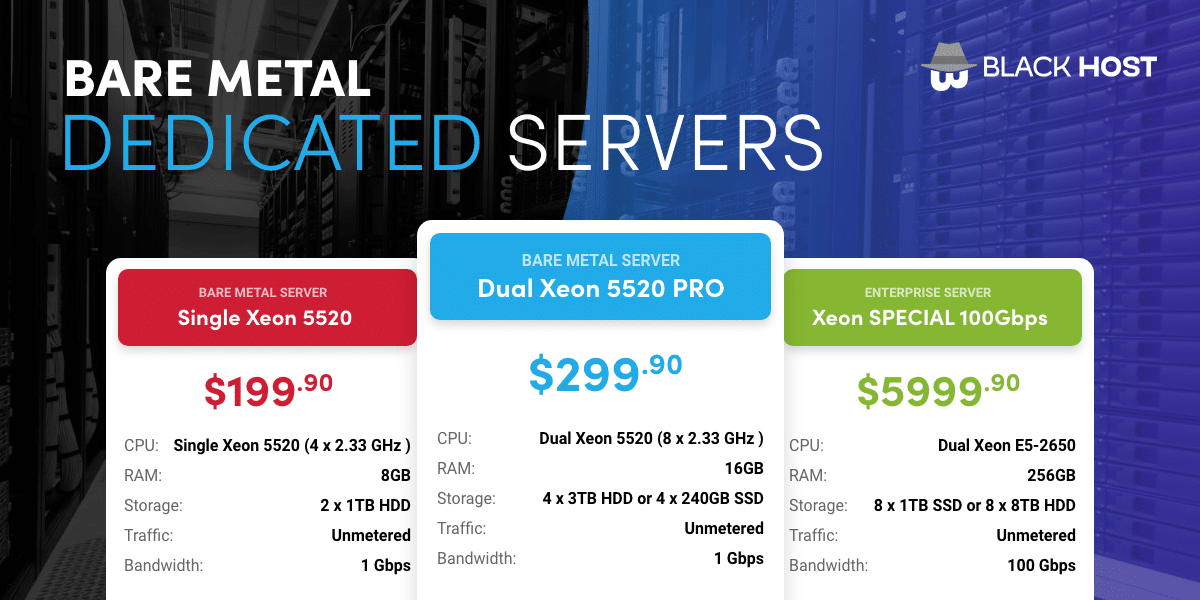 Unmetered Dedicated Servers